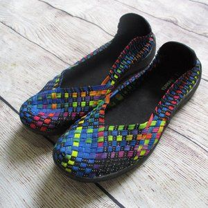 CC Resorts Woven Multi-Color Sugar 38 Shoes